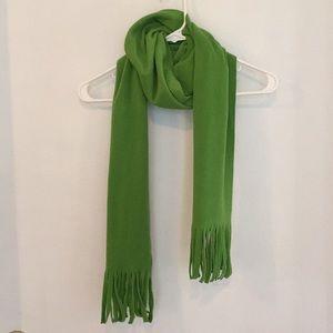 Old Navy lime green fleece scarf